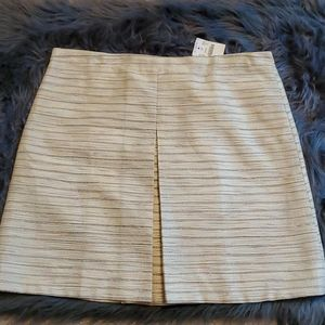 NWT J. Crew Pleated Front Skirt